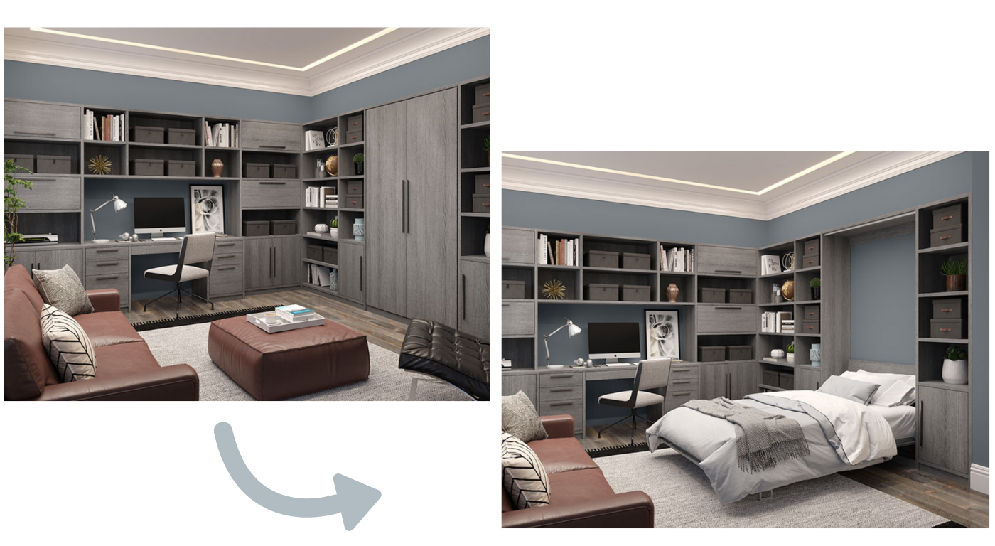 Office Wall Bed by California Closets