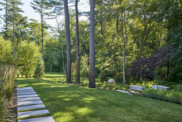 Scandinavian Farm House Garden by Amy Martin Landscape Design