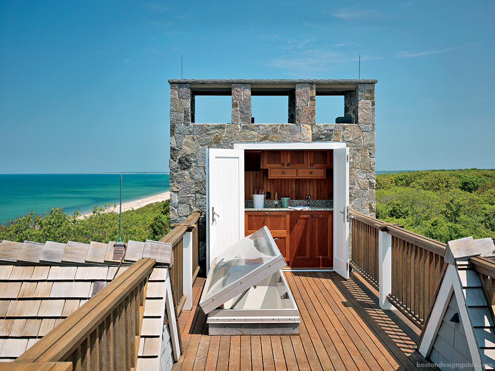 rooftop terrace in Cape Cod