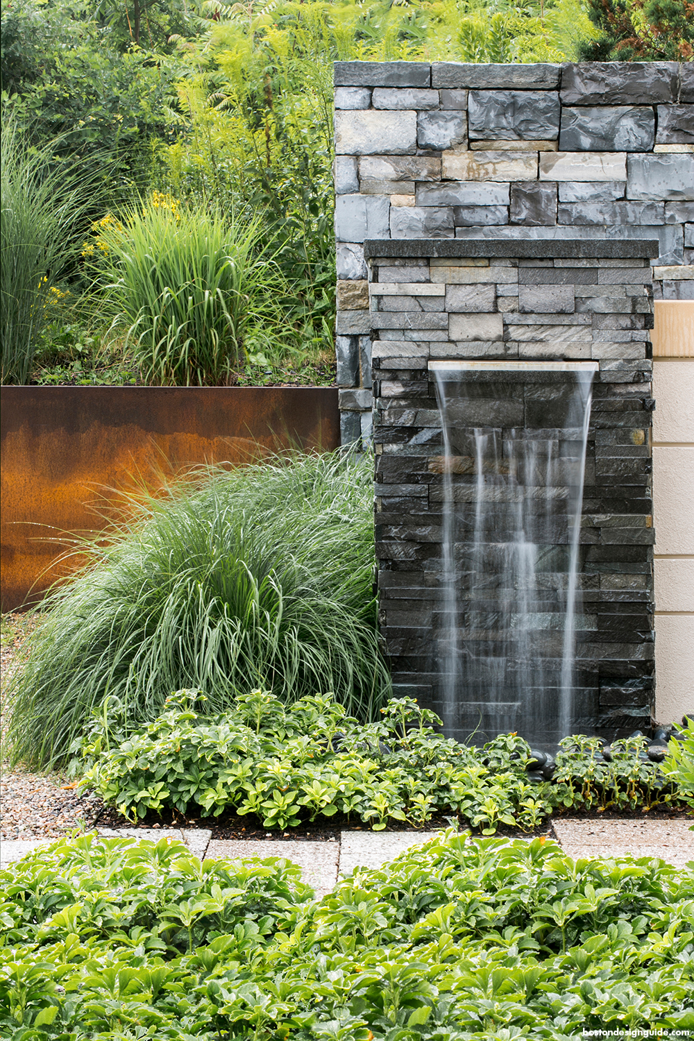 home landscape waterfall