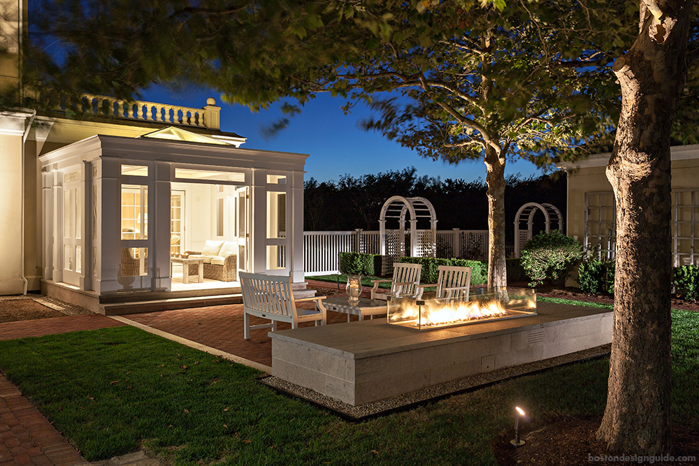 home patio and fireplace designs