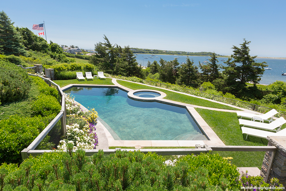 pool and waterfront home landscape architecture