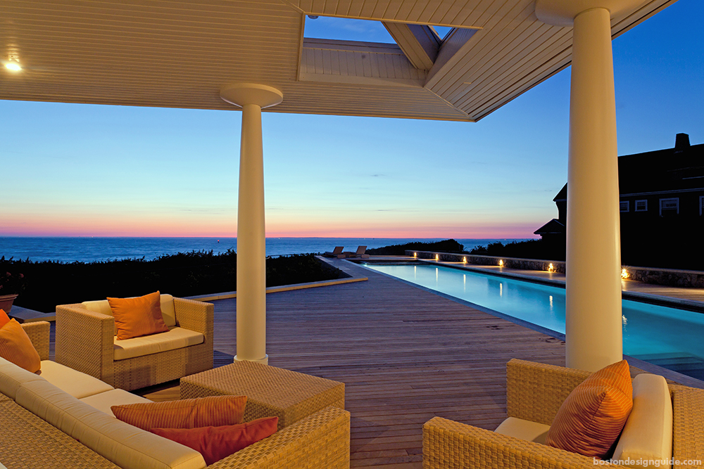 oceanfront home patio and pool