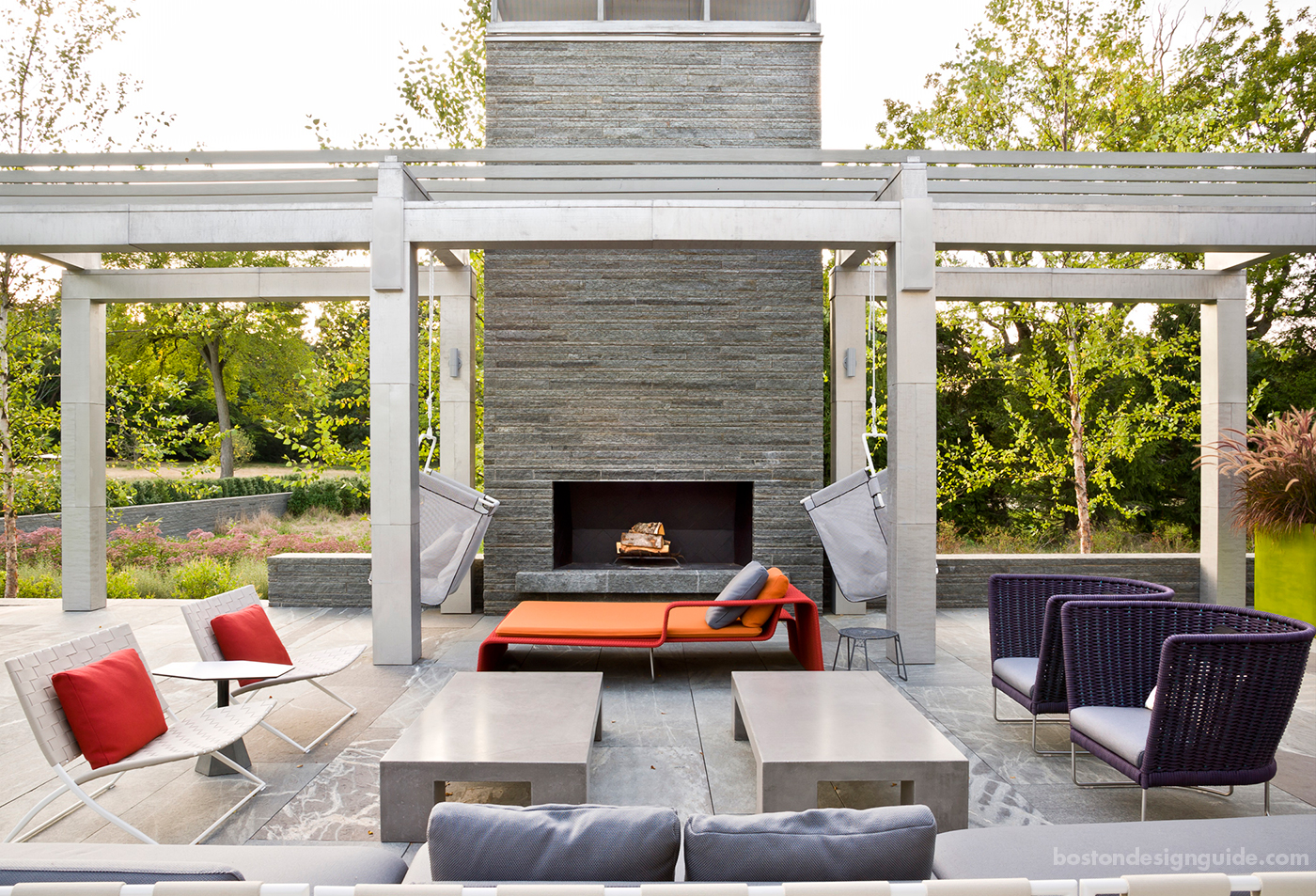High-end contemporary outdoor living space in Boston