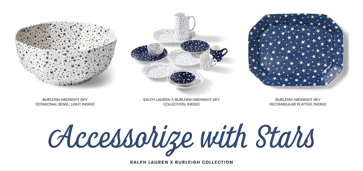 Ralph Lauren X Burleigh Collection, perfect for July 4th celebrations