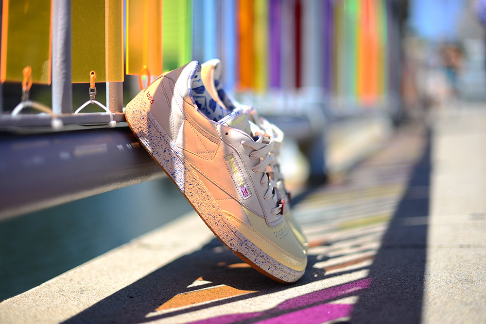 Club C Reebok Classics shoe design art design creation New England shopping