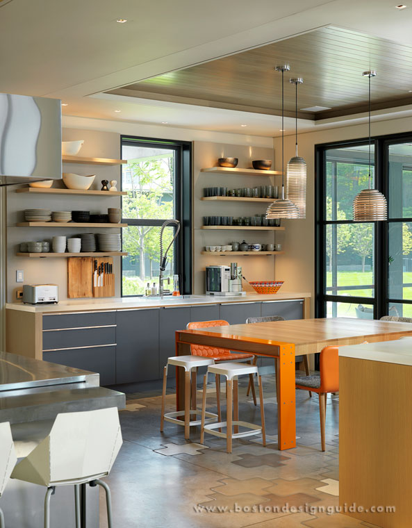 High-end contemporary breakfast area