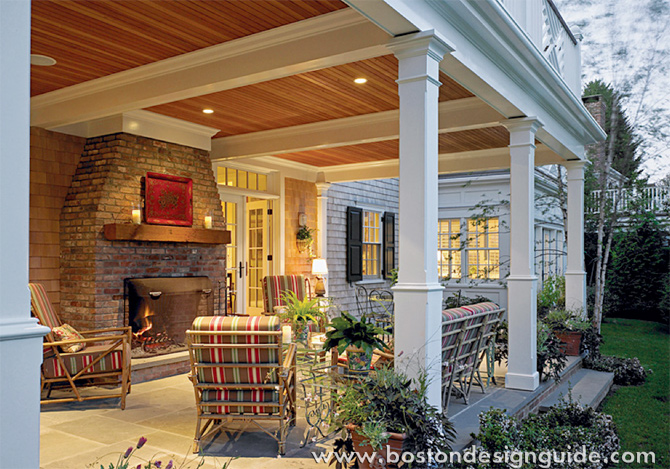 Outdoor Fireplaces Attached To Homes   Boston Design Guide on Attached Outdoor Living Spaces id=18524