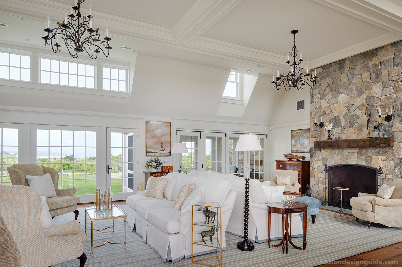 Classic great room by the water