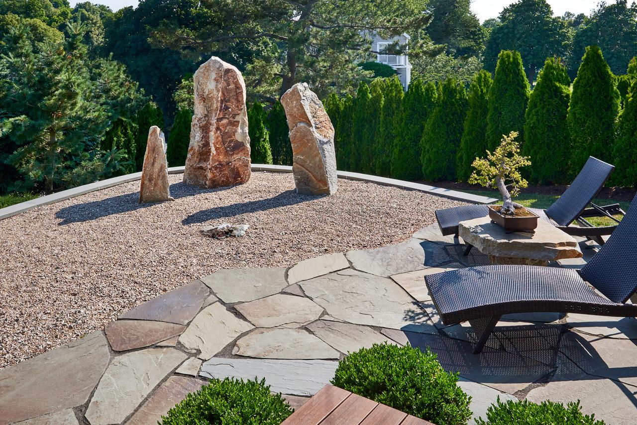 Modern Asian Art Garden by Amy Martin Landscape Design