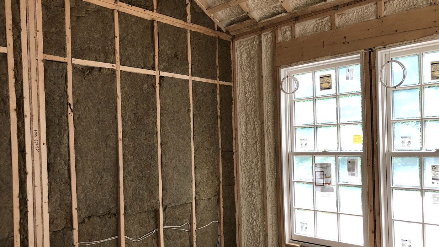New closed cell insulation in a suburban home remodel by Anderson Insulation