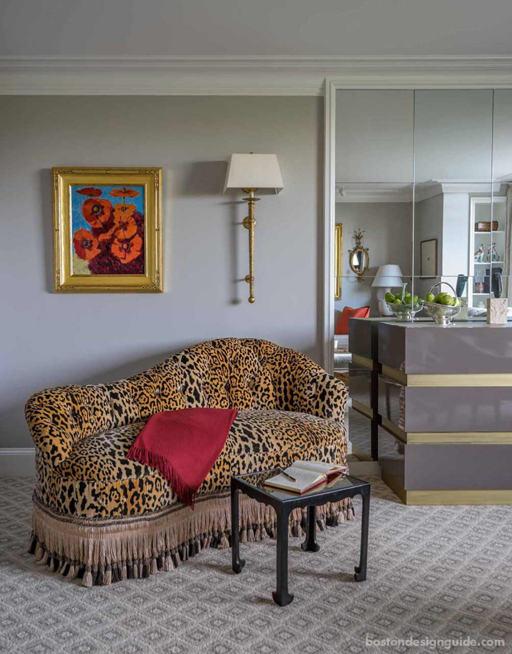 Animal prints in classic interiors