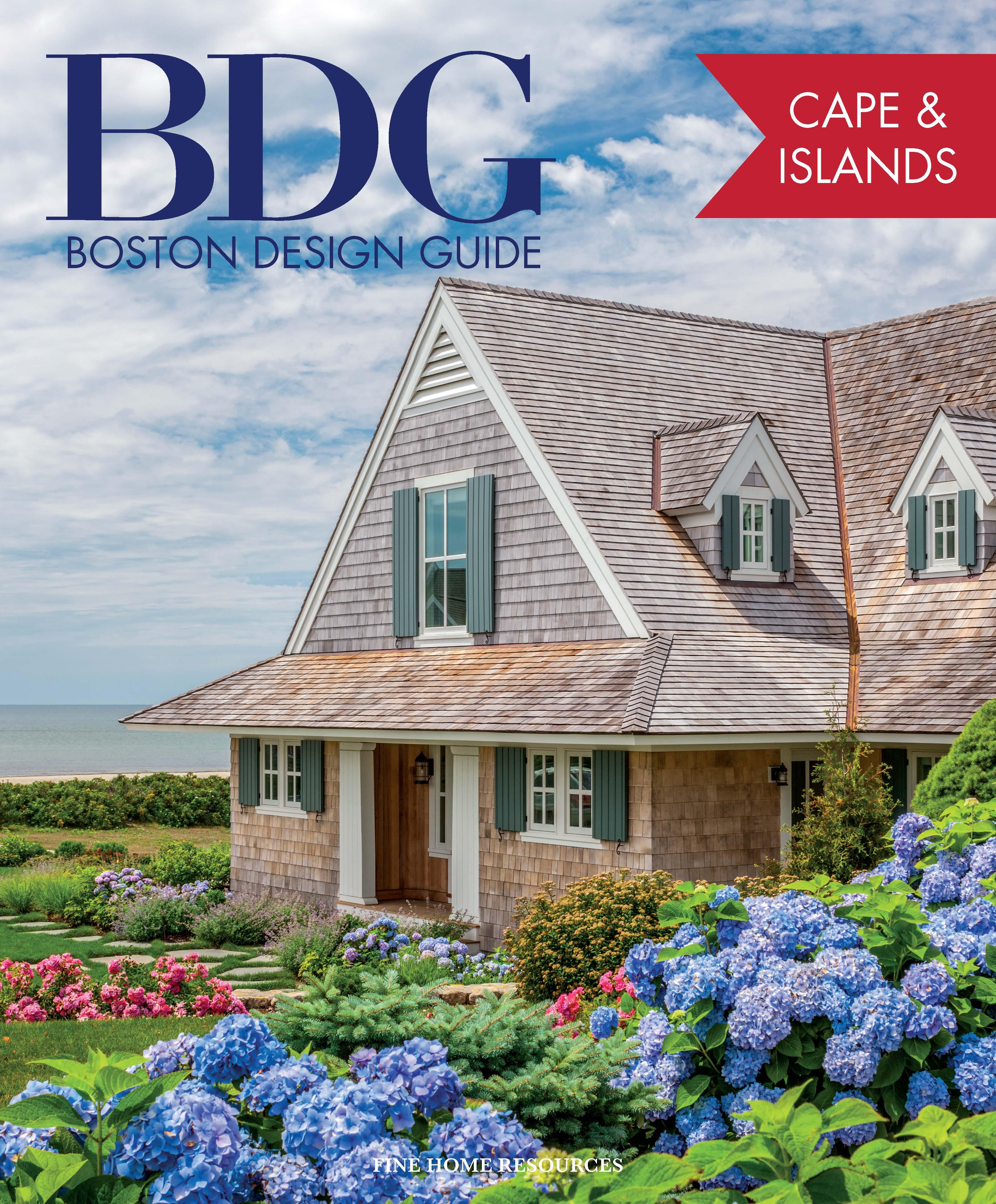 Boston Design Guide BDG home professionals on Cape Cod, Nantucket, Martha's Vineyard