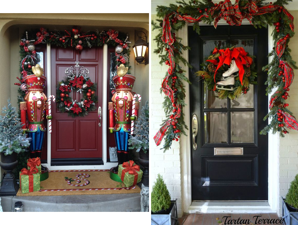 Holiday home door decoration