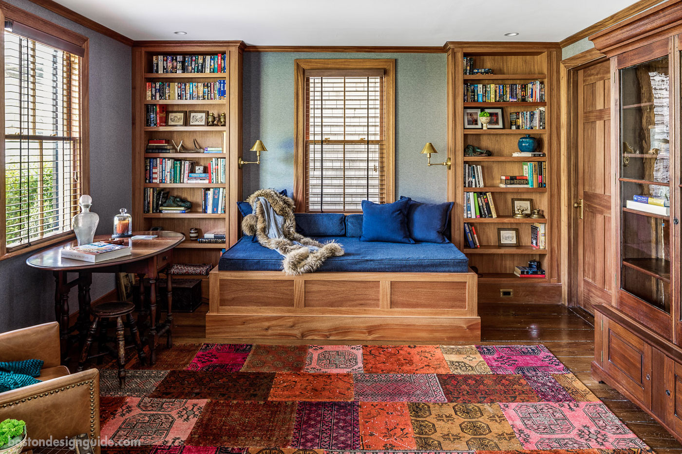 Front library of a Cape Cod renovation by Bannon Builders