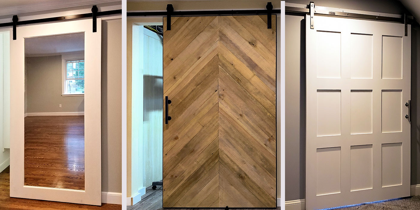 Contemporary and reclaimed barn doors by Ray Bachand of 60nobscot
