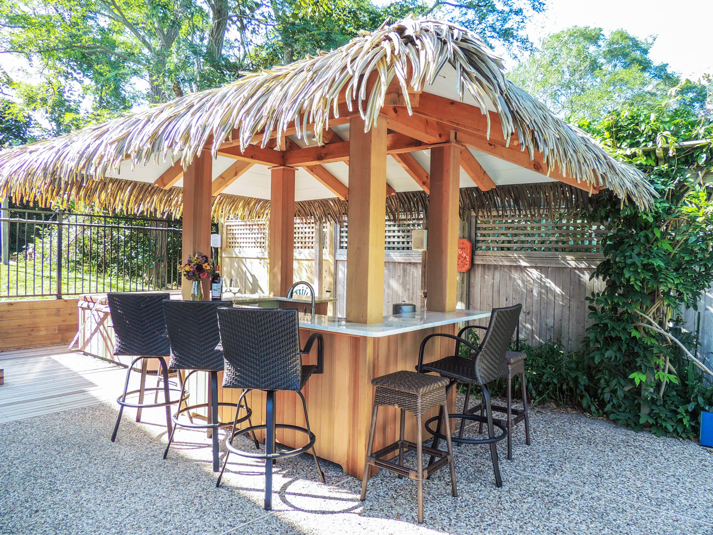 Outdoor bar design Cape Cod