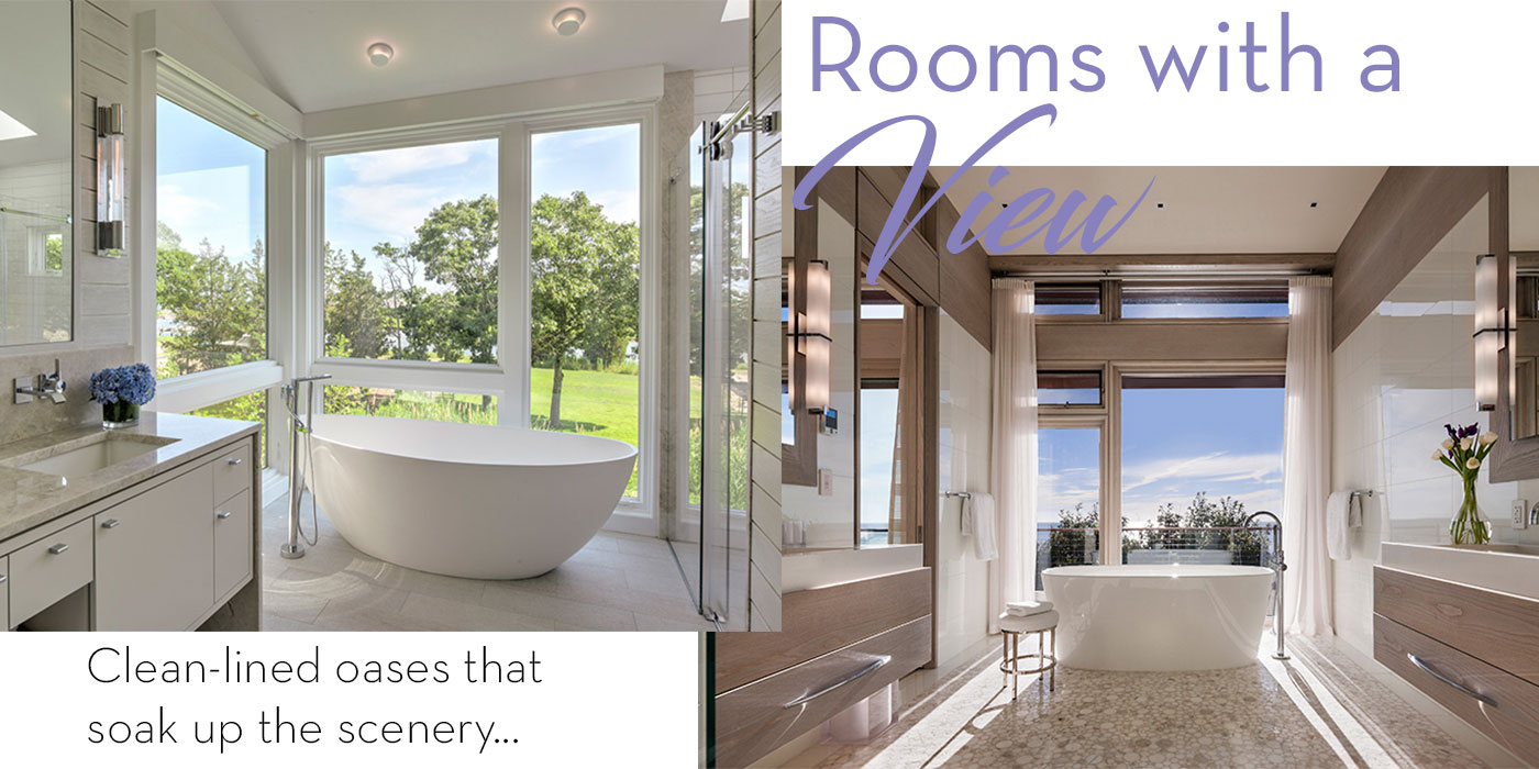 Master baths with a beautiful view of nature