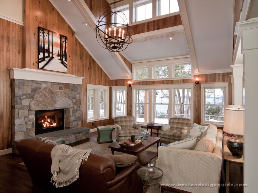 Featured project vermont gingerbread home boston design for The family room vermont