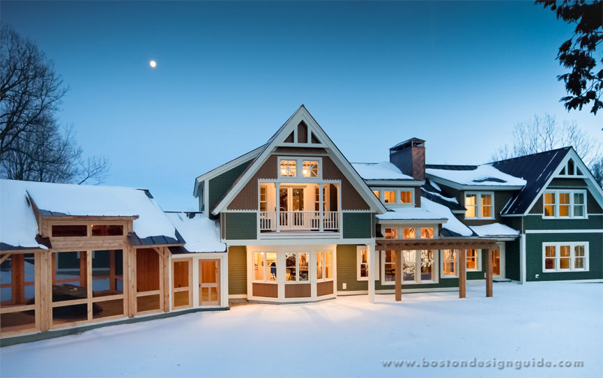 Featured project vermont gingerbread home boston design for Home builders in vermont