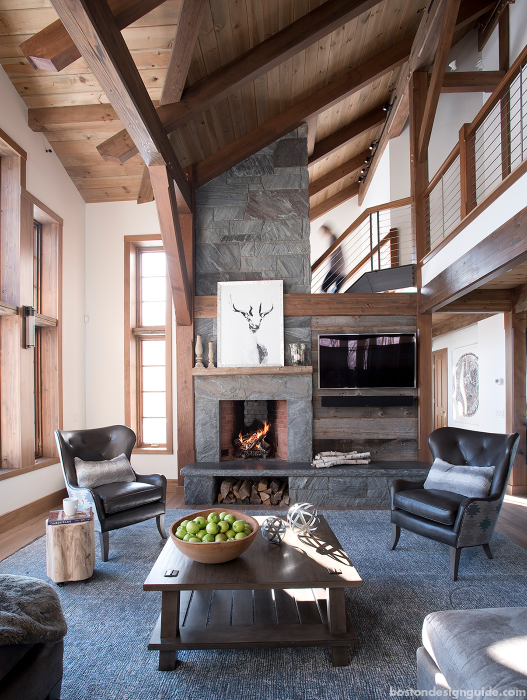Custom energy efficient ski house designed and built by Bensonwood