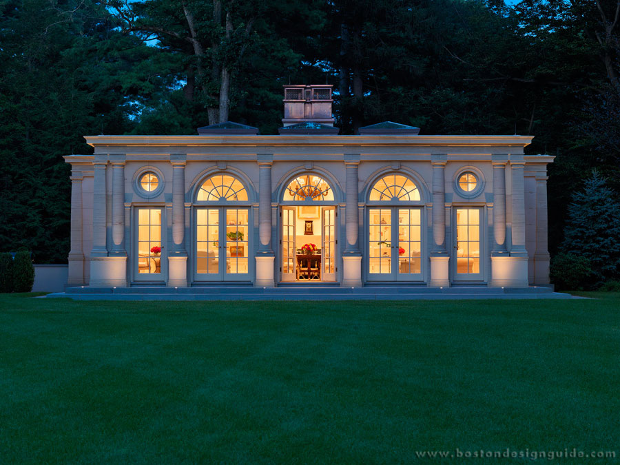 Garden Pavilion at Night