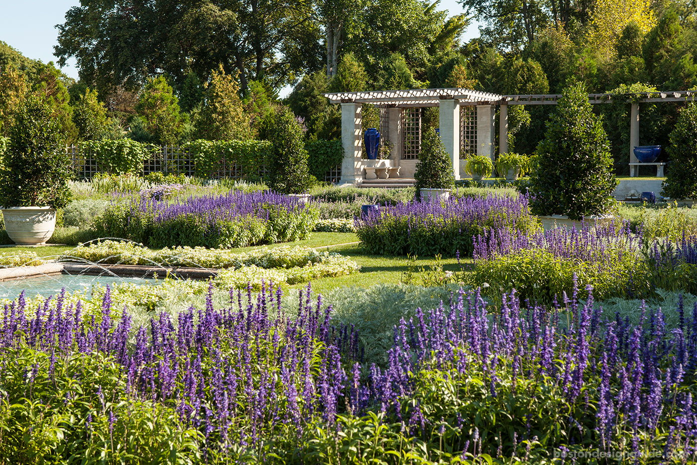 Historic Blue Garden cultivated and maintained by R.P. Marzilli & Company
