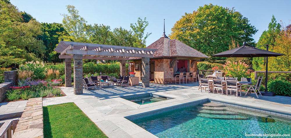 home landscaping in New England