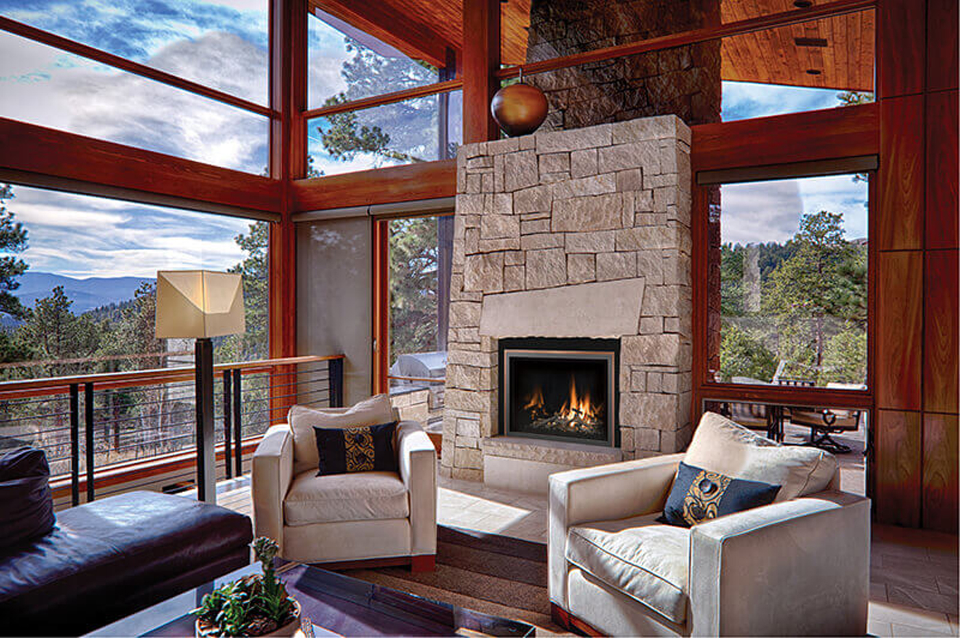 Boston Fine Home Details and Brassworks Gas Insert Fireplace