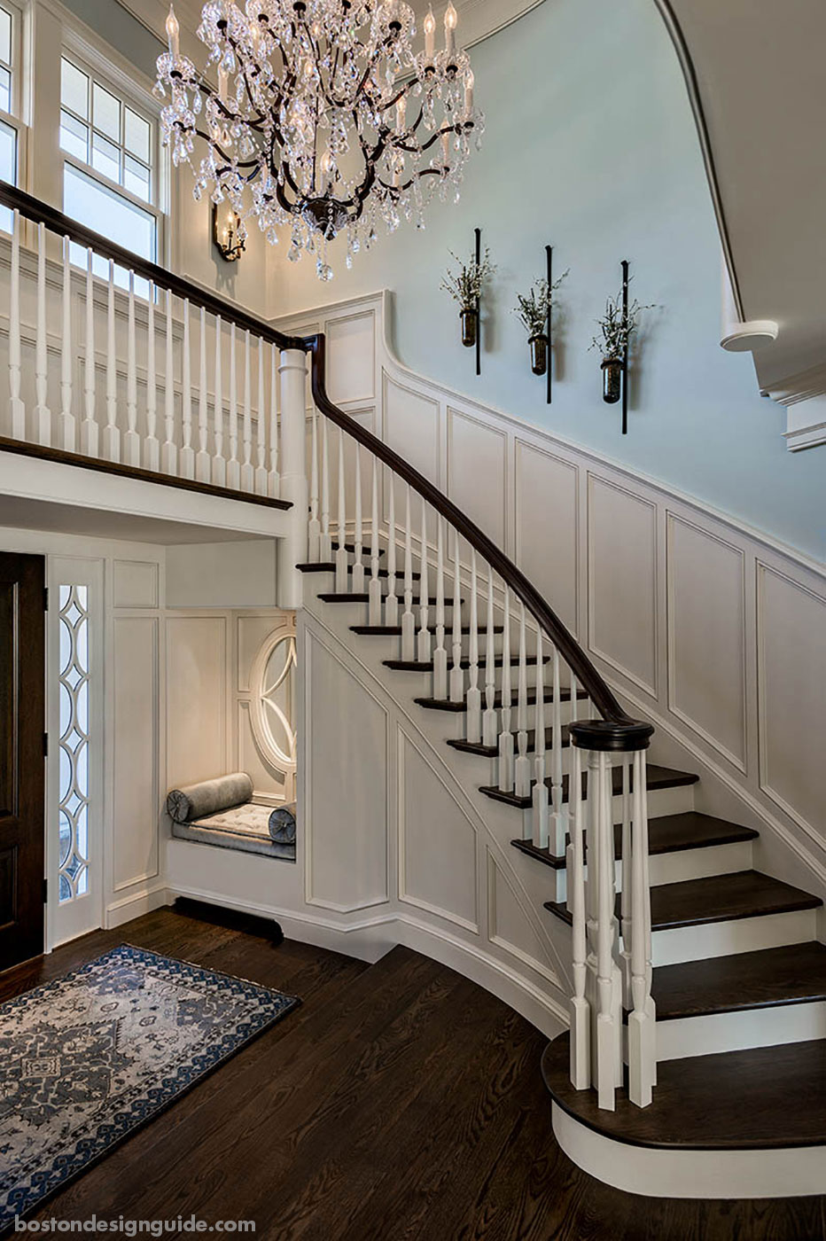Staircase for a coastal home by CM Ragusa Builders