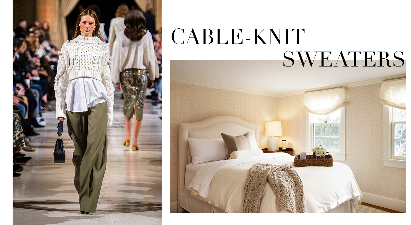 Fall Fashion in the Home, Cable-Knits