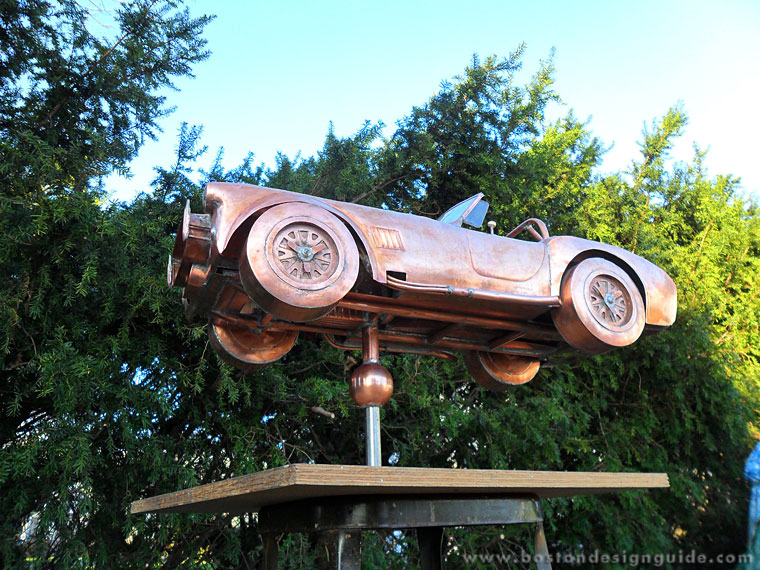 Handcrafted copper weathervane