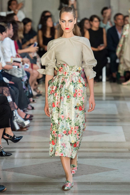 floral fashion trends in the home interior design Carolina Herrera