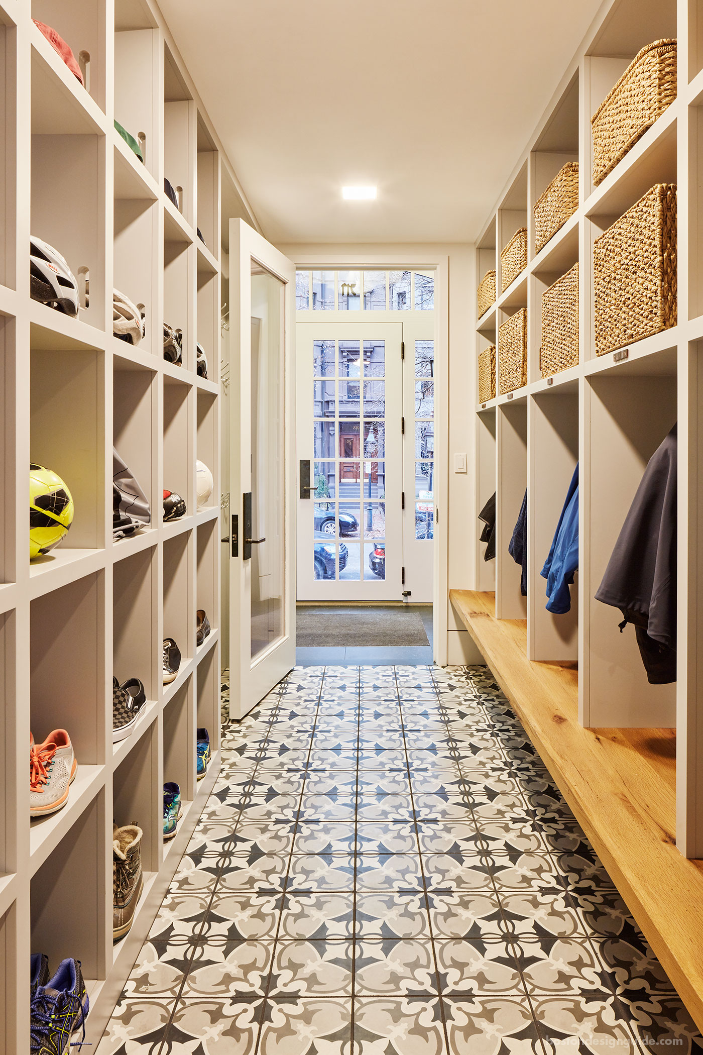 Custom mudroom by Catherine Truman Architects