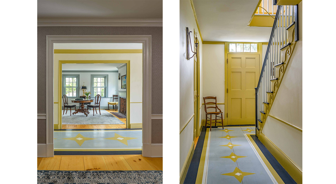 Authentic stencil work in a historic restoration by Cummings Architects