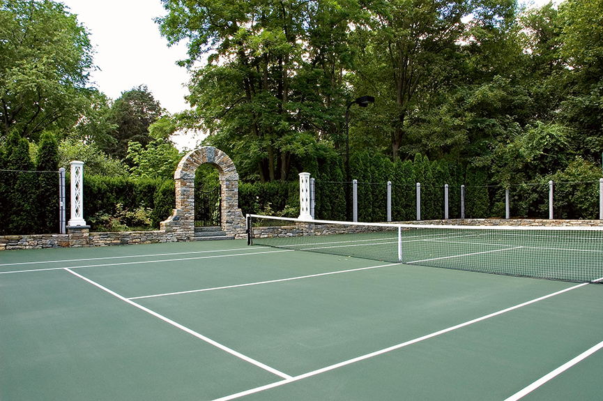 Tennis court by R.P. Marzilli & Company
