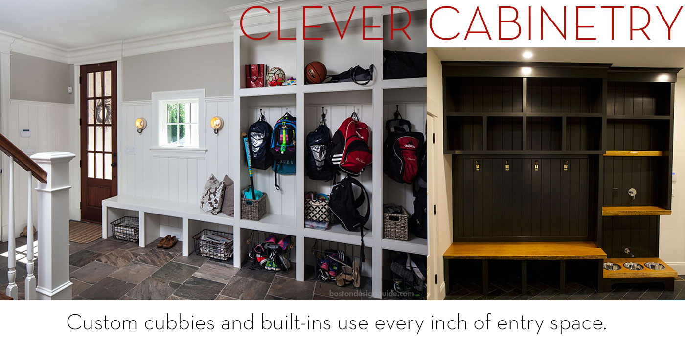 Clever cubby and cabinetry designs for mudrooms