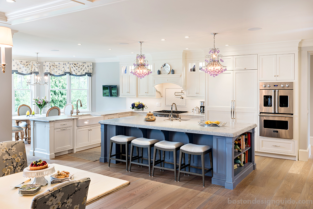 Pale blue kitchen