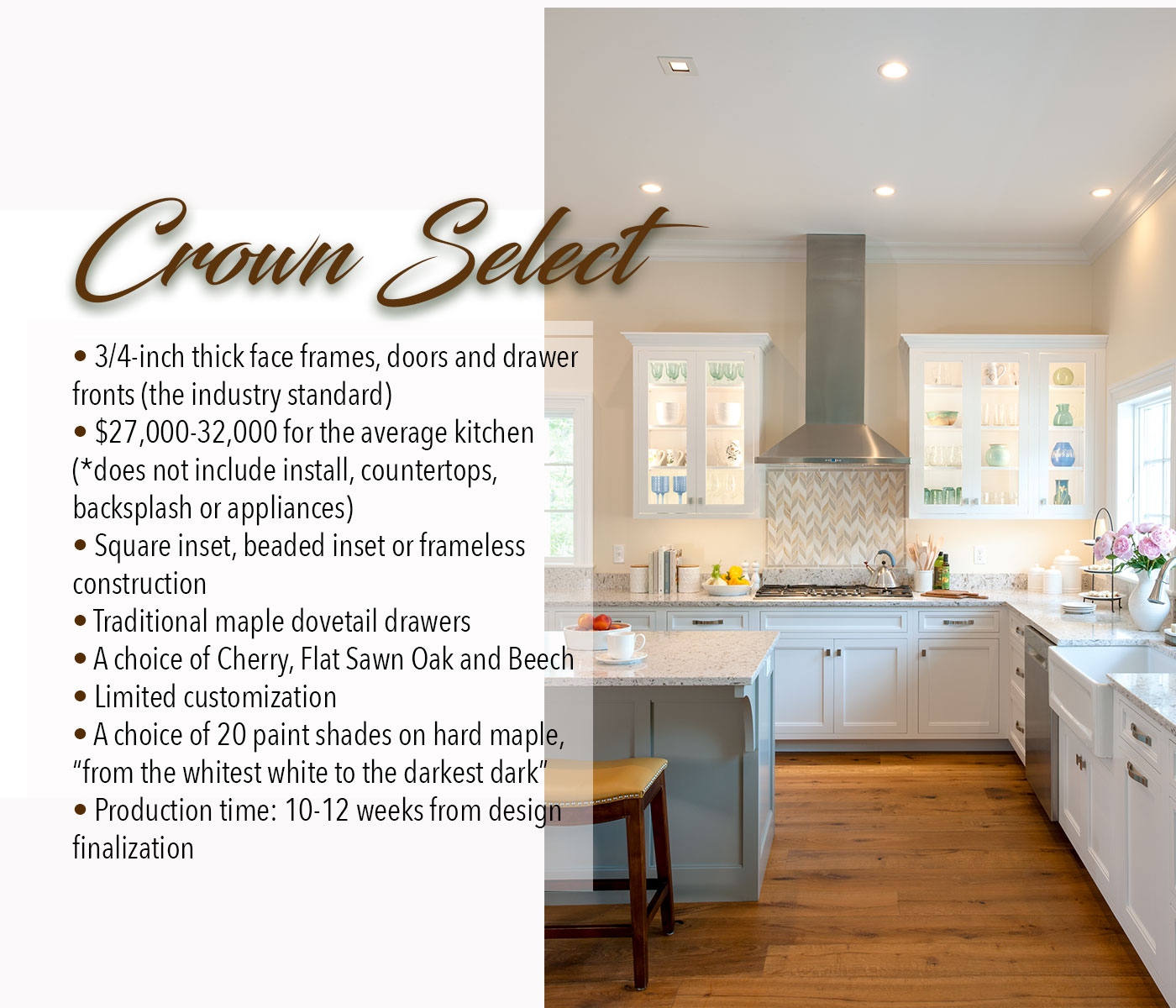 The merits of Crown Select custom cabinetry