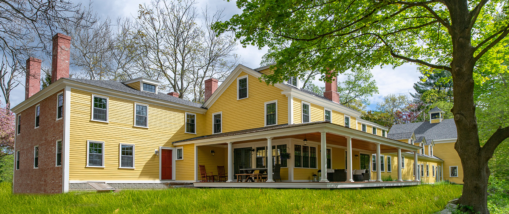 Authentic wraparound porch created for a Federal Era renovation by Cummings Architects