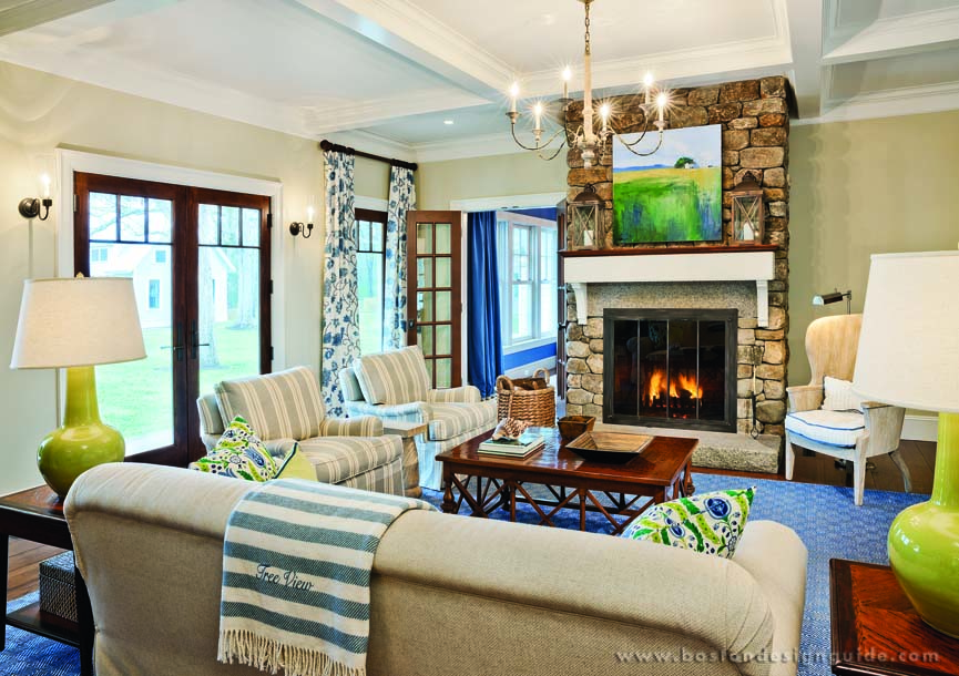 D michael collins architects for Cape cod living room decorating ideas
