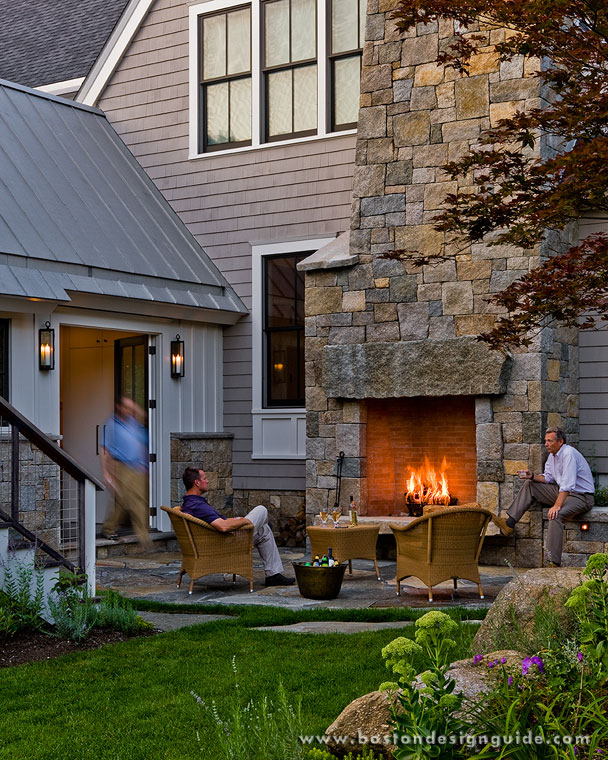 Outdoor Fireplaces Attached To Homes