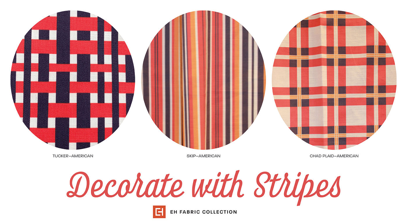 Eric Haydel Interior Design's patriotic fabric collection