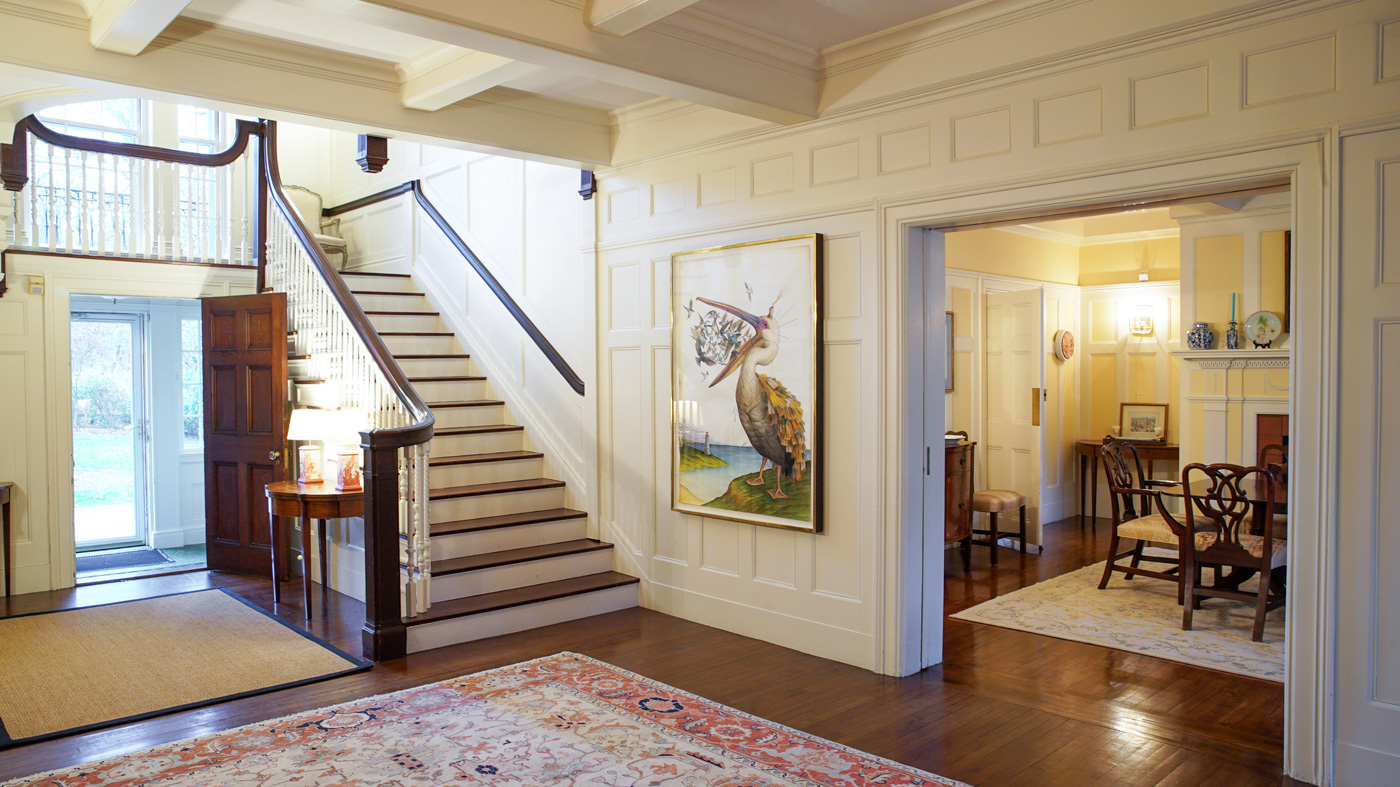 Entry way of home with smart home system technology