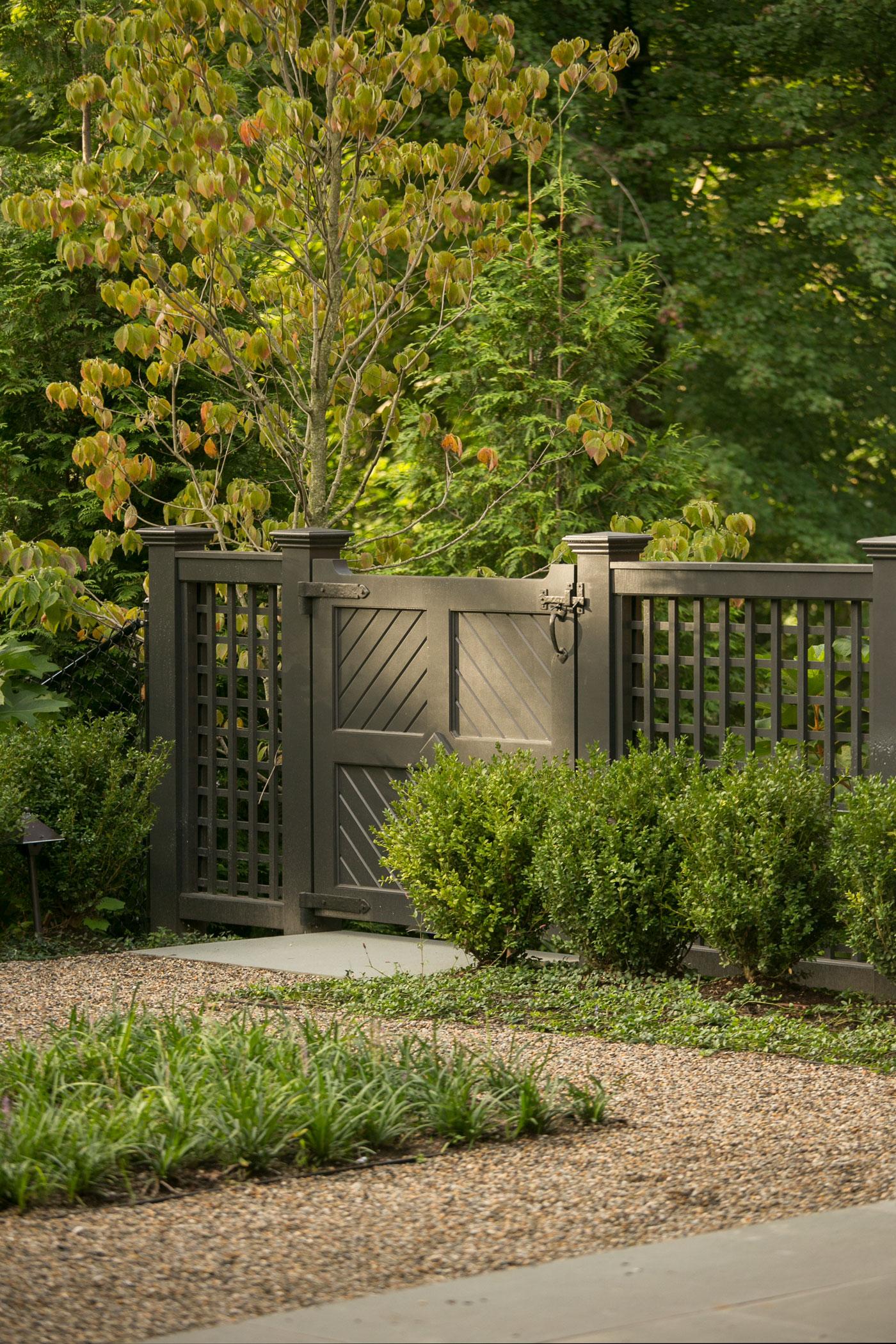 Gated landscape design by Dan Gordon Landscape Architects