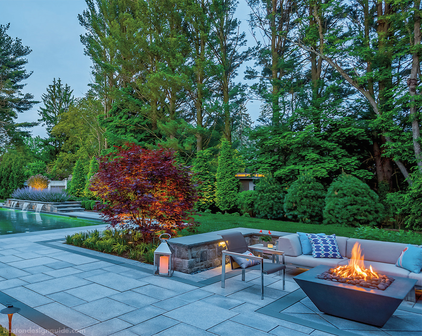 High-end Boston outdoor living space