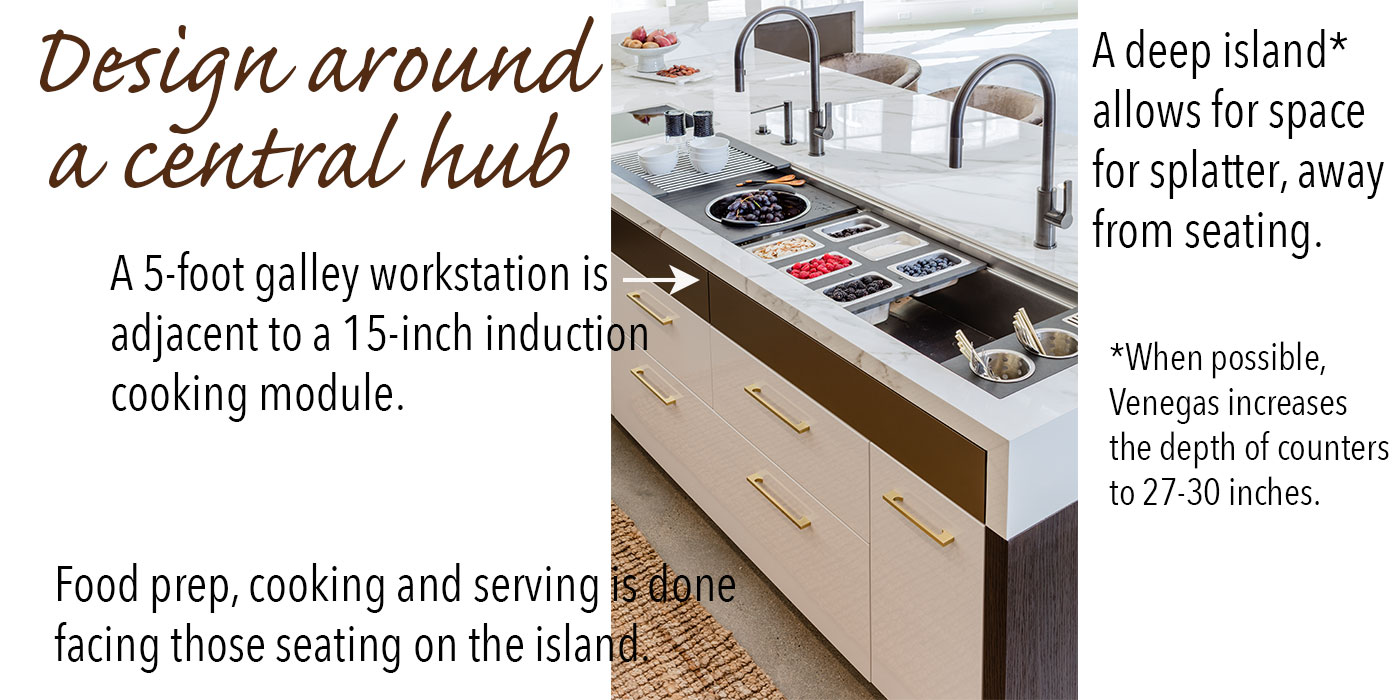 Kitchen island design tips by Venegas and Company