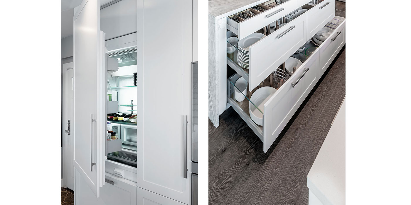 High-end kitchen design, storage and appliances by Divine Design Center