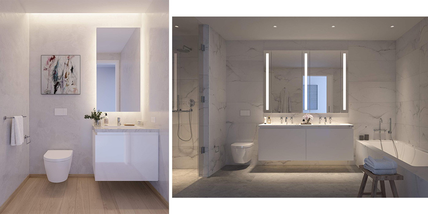Duravit Dream Bath Competition Honorable Mention Winning Project by Bori Kang of Richard Meier & Partners