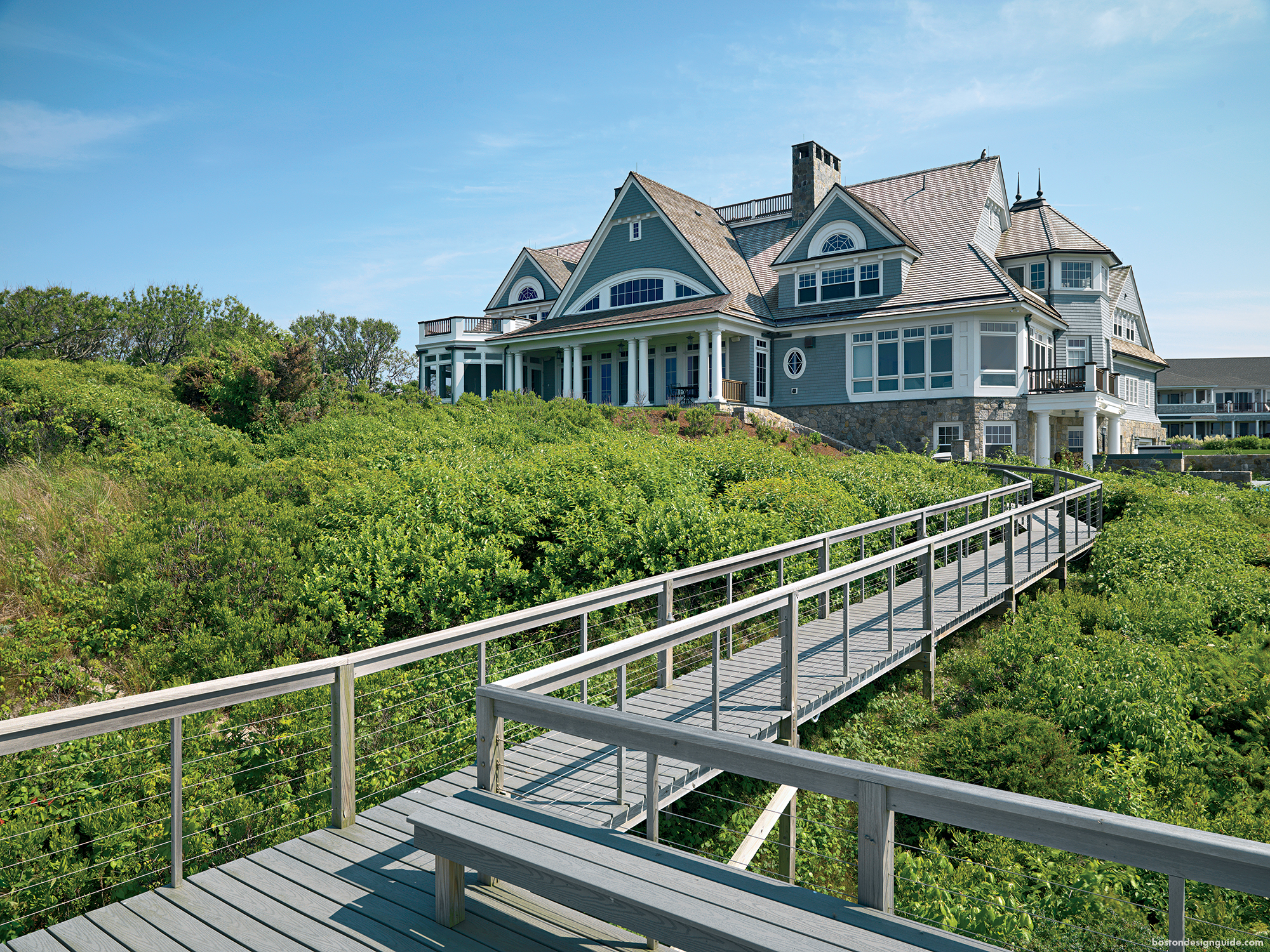 waterfront homes New England coast